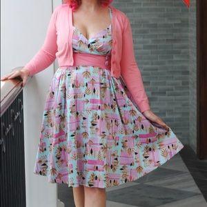 Pinup Girl Clothing Tiki Zooey dress